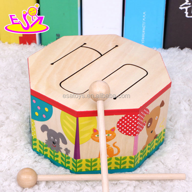 New hottest marching band toys wooden baby drum set with music W07J041