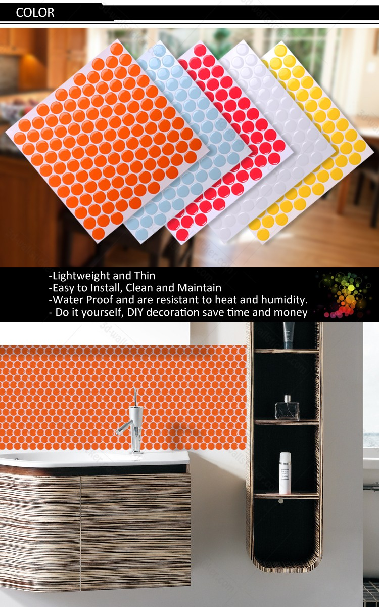 New arrival hexagon mosaic design wall sticker for Christmas home wall refresh decoration