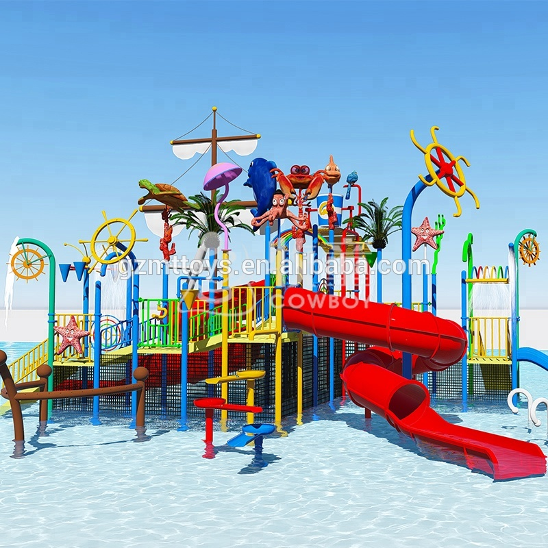 COWBOY guangdong outdoor playground equipment aquatic park manufacturer water play equipment