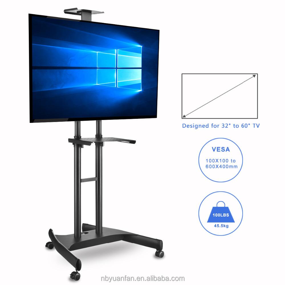 360 Pivotant Nouveau Design Meuble Tv Mobile Floor Stand Avec  # Meuble Tv Avec Fixation