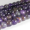 Natural 8mm round Semi Precious Stones Amethyst Beads Strand