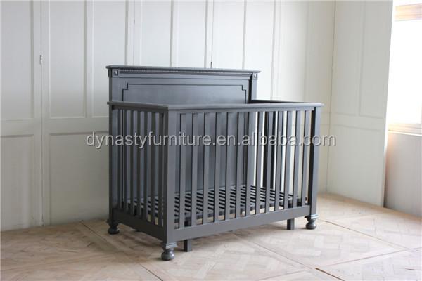 Dormitorio muebles antiguos de madera diseños vintage color negro ...