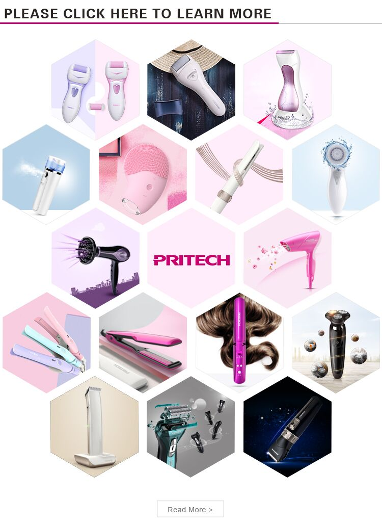 PRITECH Fashion Spiral Shape Plastic Cover Ceramic Coating Curling Iron Hair Curler
