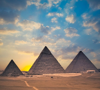 Yeni Moda 50x55 Cm Mısır Piramitleri Görünüm 3d Yağlıboya Tuval