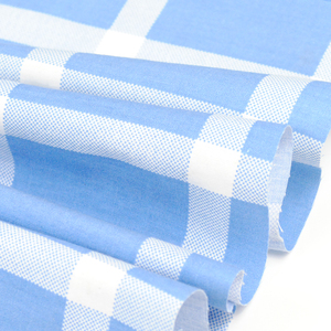 Hospital bed sheet material 100% cotton yarn dyed custom plaid fabric