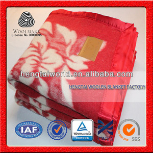 Famous manufacturer super soft jacquard blanket, hotel,airline,houeseuse wool woven blanket, luxury wool blanket