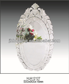 On Sale Large Modern Beveled Etching Cheap Venetian Wall Mirror
