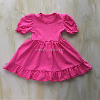 Dyj-089 Neweast Baby Frock Designs Casual Cotton Girl Candy Color ...