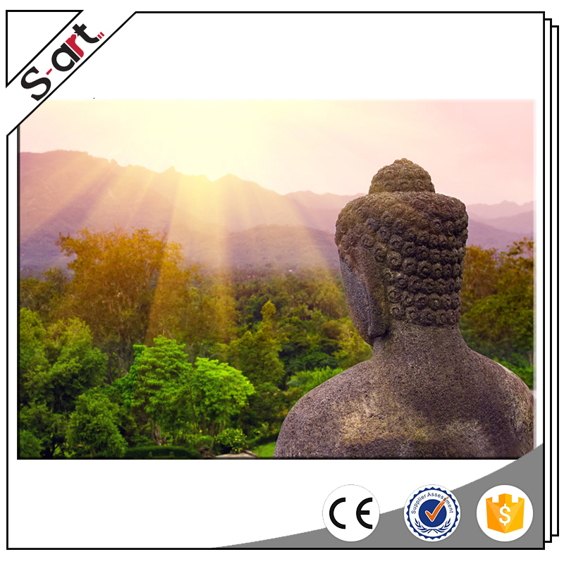 China supplier high resolution light up buddha canvas prints