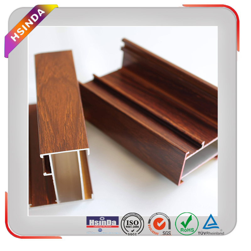 Wood finish heat transfer powder coating for powder coated aluminum door