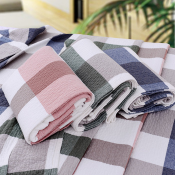 Wholesale Queen Size Heavy Thick Cotton Blanket Fabric Beach