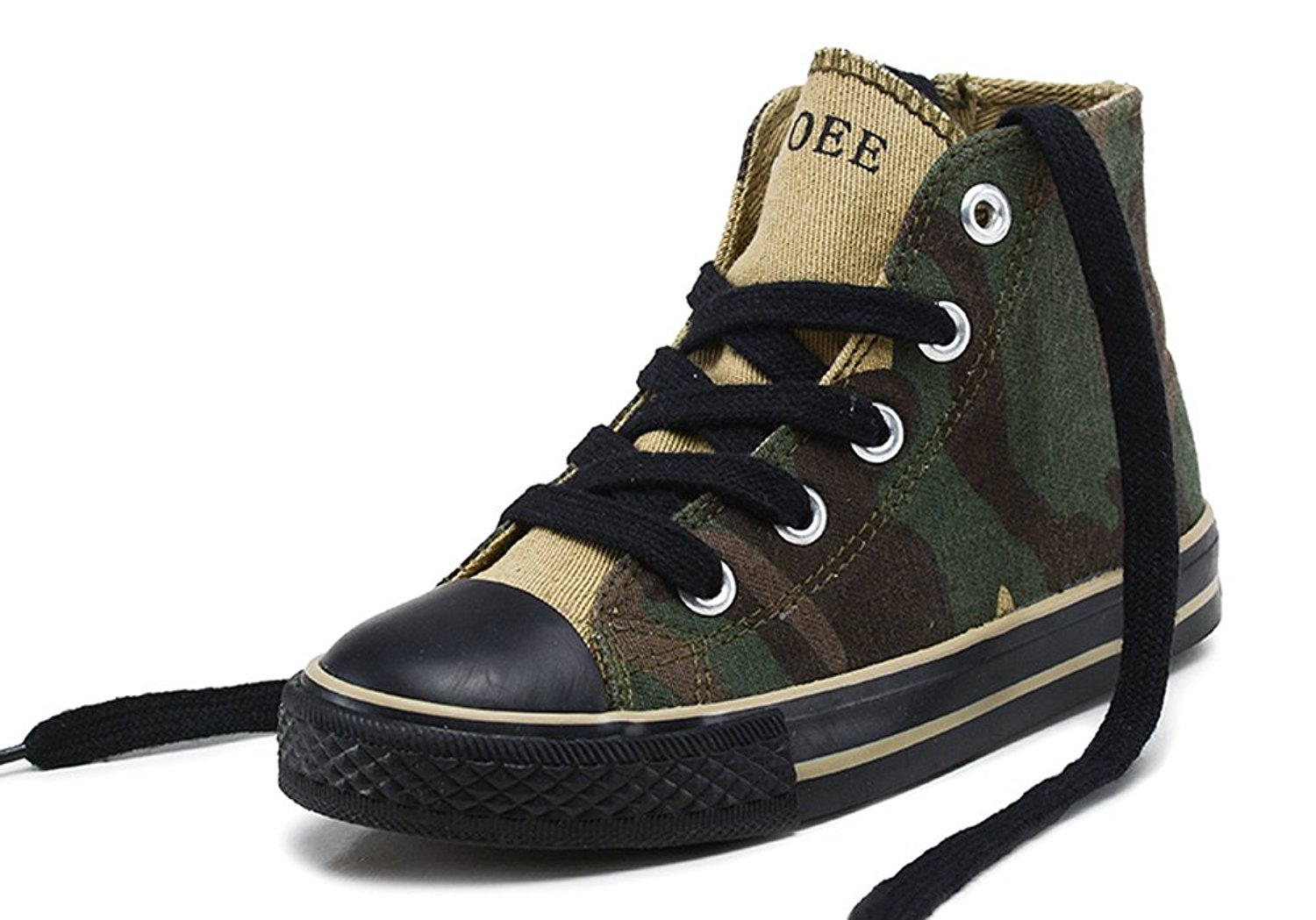 iDuoDuo Kids Fashion Camo Shoes Anti-Collision Lace Up Canvas Sneakers (Toddler/Little Kid)
