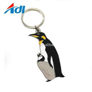 Wholesales custom engraved metal animal soft enamel keychain