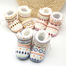 2018 winter retro lovely plush baby shoes,fashion colorful baby snow boots
