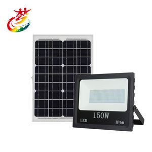 Newest Design Die-cast aluminum alloy infrared remote control 100 watt solar led flood lighting