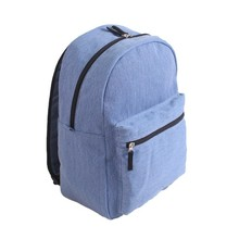Canvas School Bag Backpack JN 2495 Style Unisex Fashionable Canvas Zip Backpack School College Laptop Bag for Teens Girls
