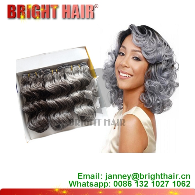 Wholesale cheap price synthetic hair silver grey ombre hair cheap price synthetic hair silver grey ombre hair extensions short curly hair style pmusecretfo Image collections