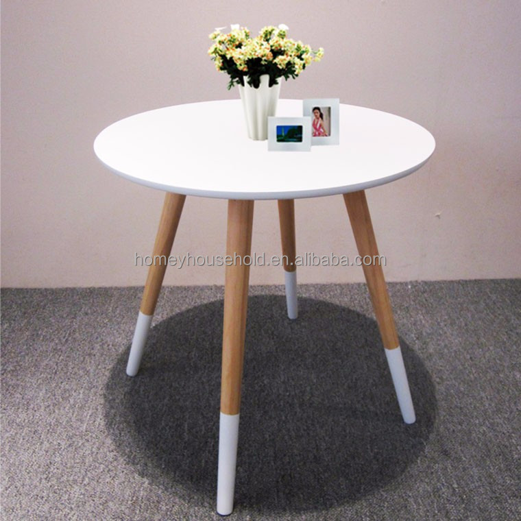 Wooden home furniture MDF coffee table with wood legs
