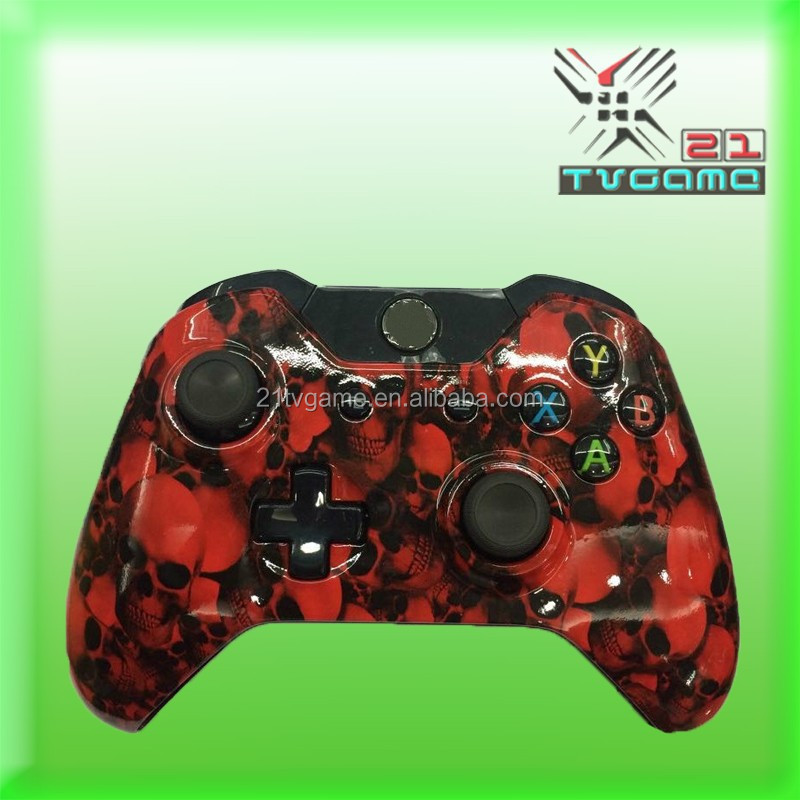 OEM Hydro Dipped Smiley Grin Red For Xbox One Controller Wireless Controllers For XBOX ONE Gamepad Joystick With Logo