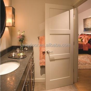 3 Panel Equal Shaker Style White Bathroom Bedroom Wood Door Designs