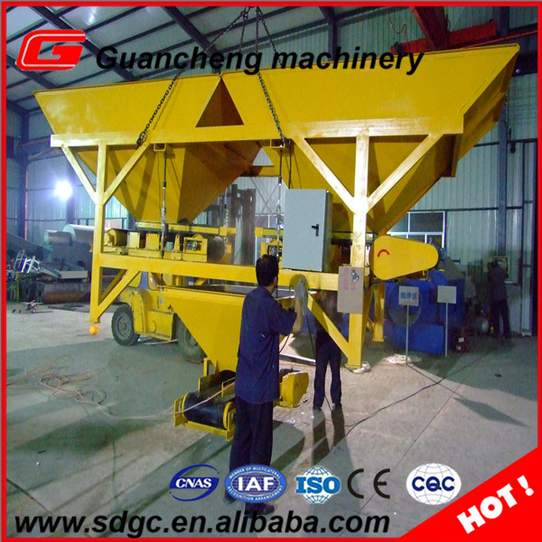 2 Hoppers Concrete/cement/sand Batching Machine With High Accuracy