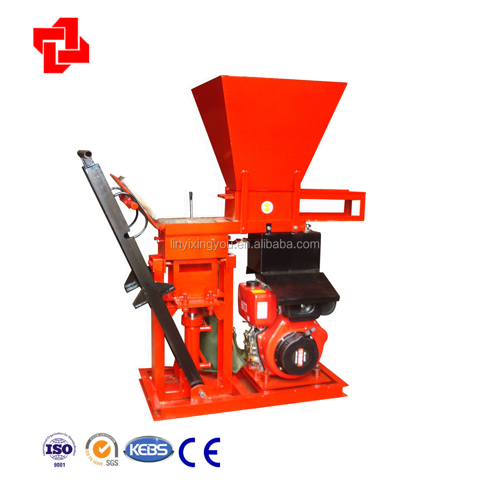 XYM1-25 issb soil cement block making machine uganda