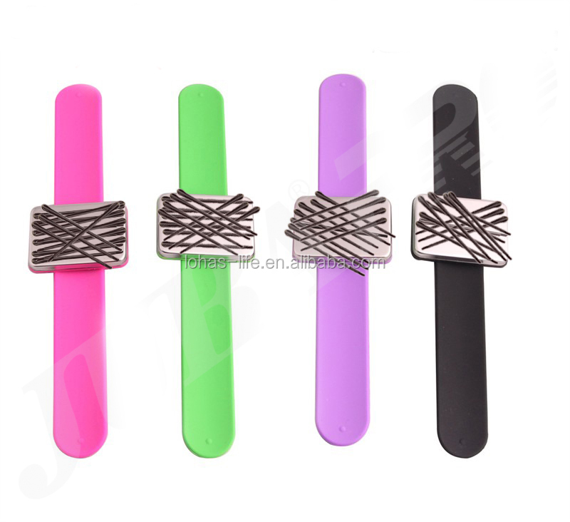 Magnetic Bobby Pin Bracelet, Bobby Pins Holder, Silicone Rubber Bands Holder