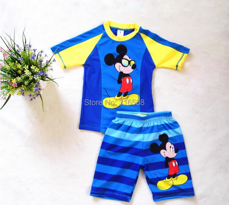 1e7f44db3f73 Free Shipping Wholesale Children Boys Surfing Suit Baby Boys Kids Swimwear  Swimming Costume Beachwear Rashguard Blue