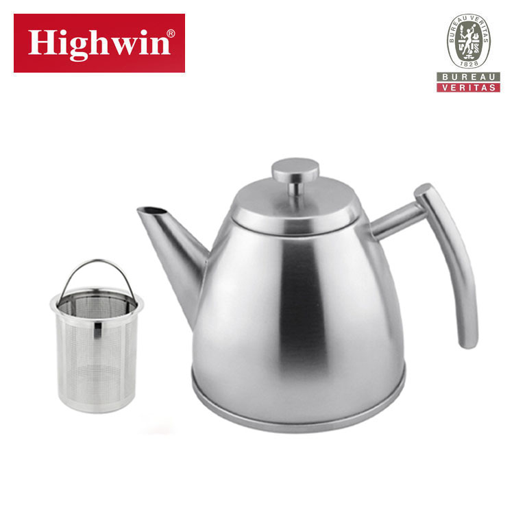 High Quality stainless steel 8 cup no electric tea kettle pot