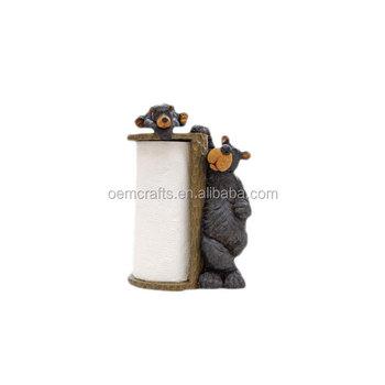 Cute Custom Two Bears Resin Animal Funny Toilet Paper Holder Buy