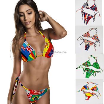 14315b86f14d9 2016 National Flag Print Bikini