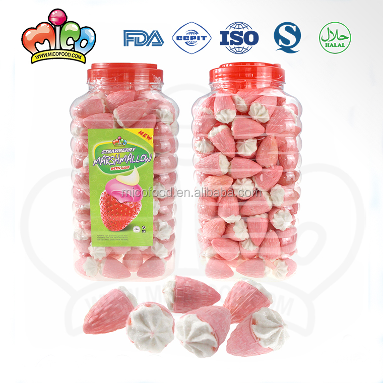 Strawberry Shaped Marshmallow Candy