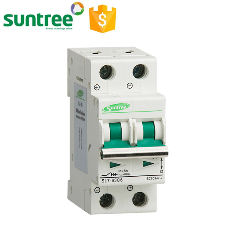 SL7-63 Safety Suntree DC Circuit Breaker 2 P