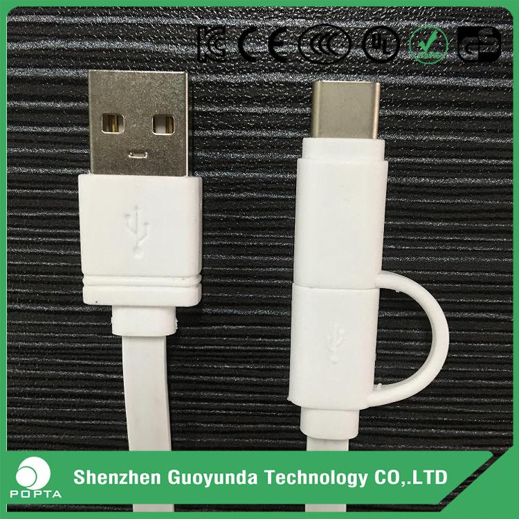 USB 2.0 A to micro B USB type C candy color charging cables, both ends micro usb cable, android charger cable