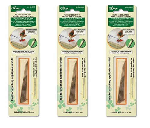 Bulk Buy: Clover Felting Needle Tool Refill Heavy Weight 5/Pkg 8906 (3-Pack)