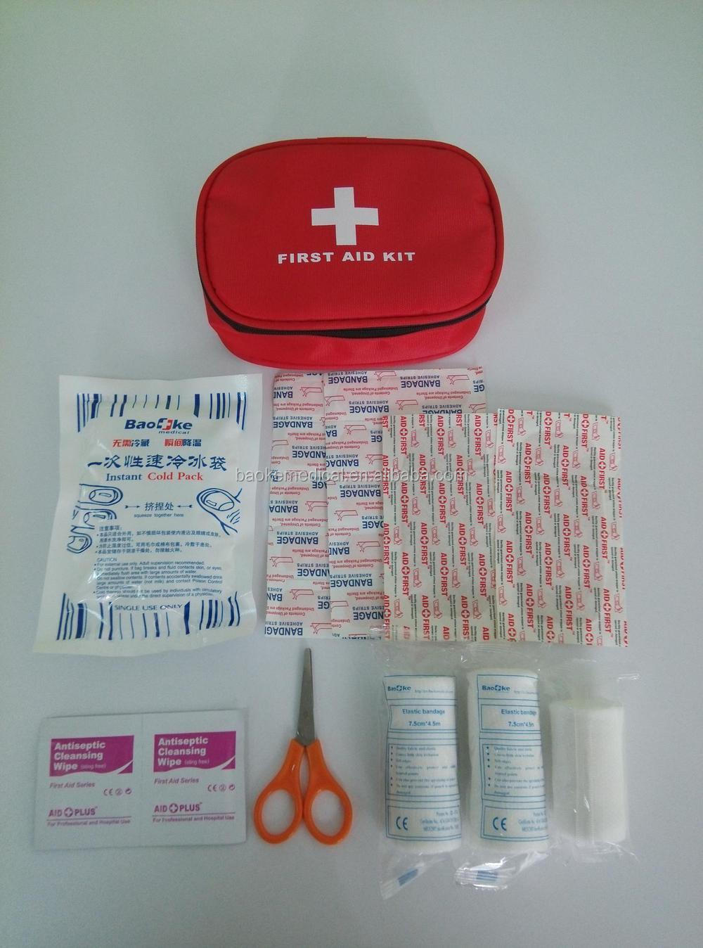 Blue small lady personal first aid kit outdoor travel first aid kits for your safety