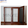 Long use time thermal break aluminum cladding wood casement window with net