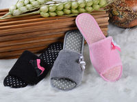 Cheap price open toe indoor slipper TPR outsole women shoes house room slipper
