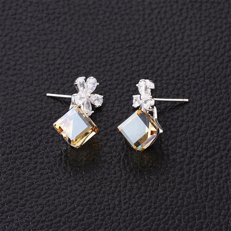 5f54052f66ed E-11-fashion italiano joyería de traje de Seúl piedra pendientes con  cristales de