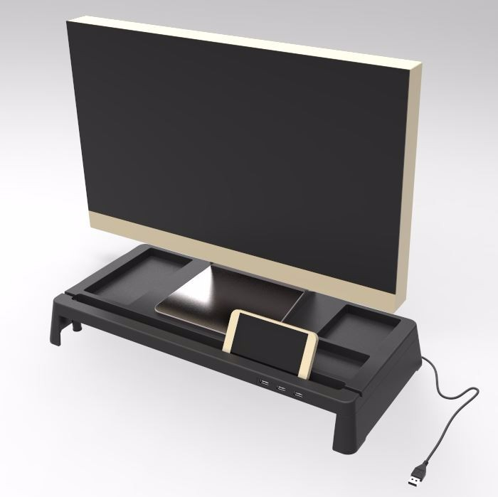 Tempered glass Multi Media Monitor Desktop Stand