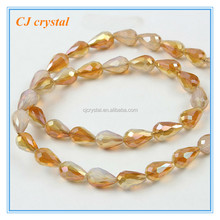 Teardrop glass beads, glass beads for jewelry making