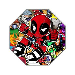 Cool Deadpool Baby Custom Portable Folding Travel Design Rain and Sun Beach Umbrellas Hat Unique Parasol Umbrella
