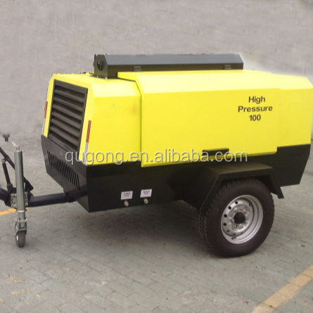 7 Bar Efficient Famous Diesel Portable 375 cfm Industrial Air Compressor For Sale