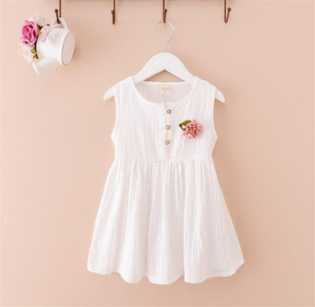 07ce4a897d43 summer cotton my baby girl dresses cute little girls dress clothes with  flower decoration