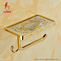 bathroom new design gold wall mount brass toilet paper holder