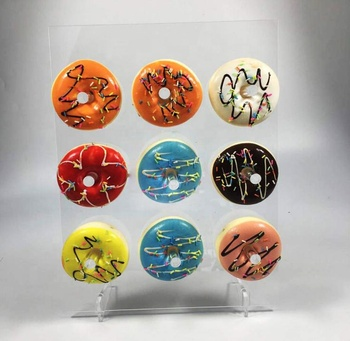 Acrylic Donut Wall Display  for   Wedding Party Birthday Decorations