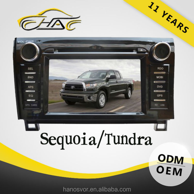 7 inch car dvd player toyota tundra/sequoia with car dvd gps navigation camera