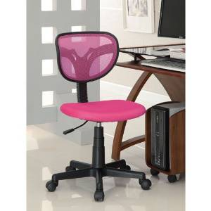 Coaster Casual Mesh Adjustable Height Office Chair, Pink