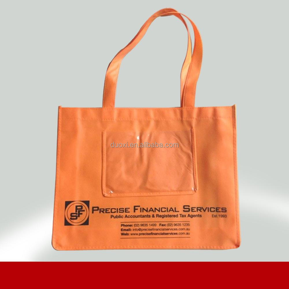 Good mechanical strength breath freely non woven shopping bags customized