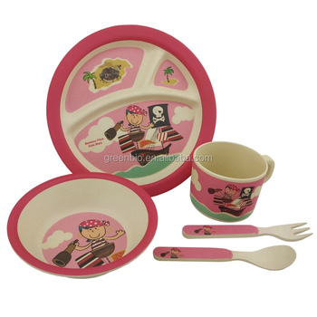 Pirate boys bamboo fibre 5 piece childrenu0027s dinner set kids bowl/mug/plate  sc 1 st  Alibaba & Pirate Boys Bamboo Fibre 5 Piece Childrenu0027s Dinner Set Kids Bowl/mug ...